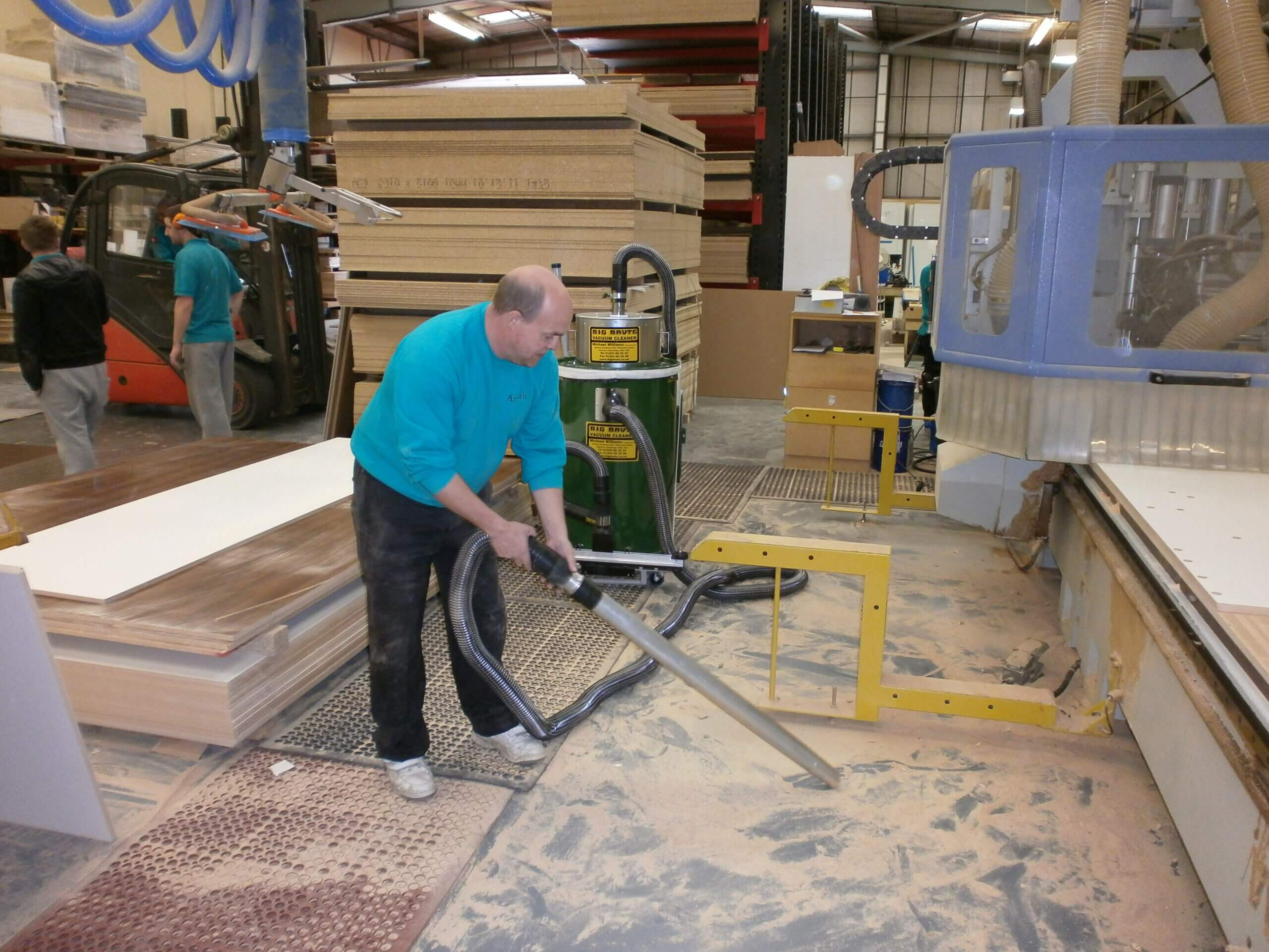 Amarii Southern Ltd Cleaning Up Dust With A Big Brute HEPA Industrial Vacuum Cleaner