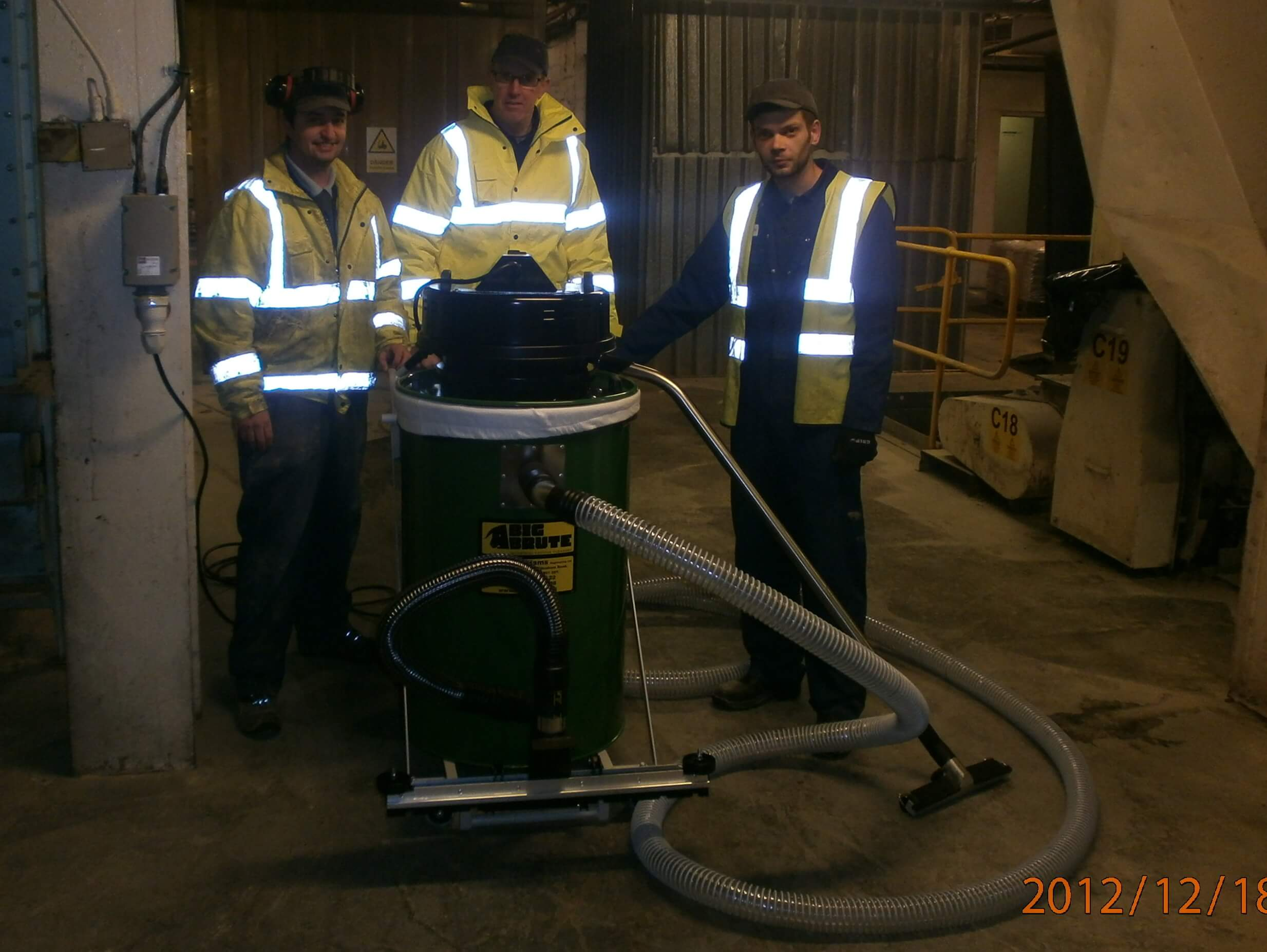 BOCM Pauls With Their Big Brute Industrial Vacuum Cleaner