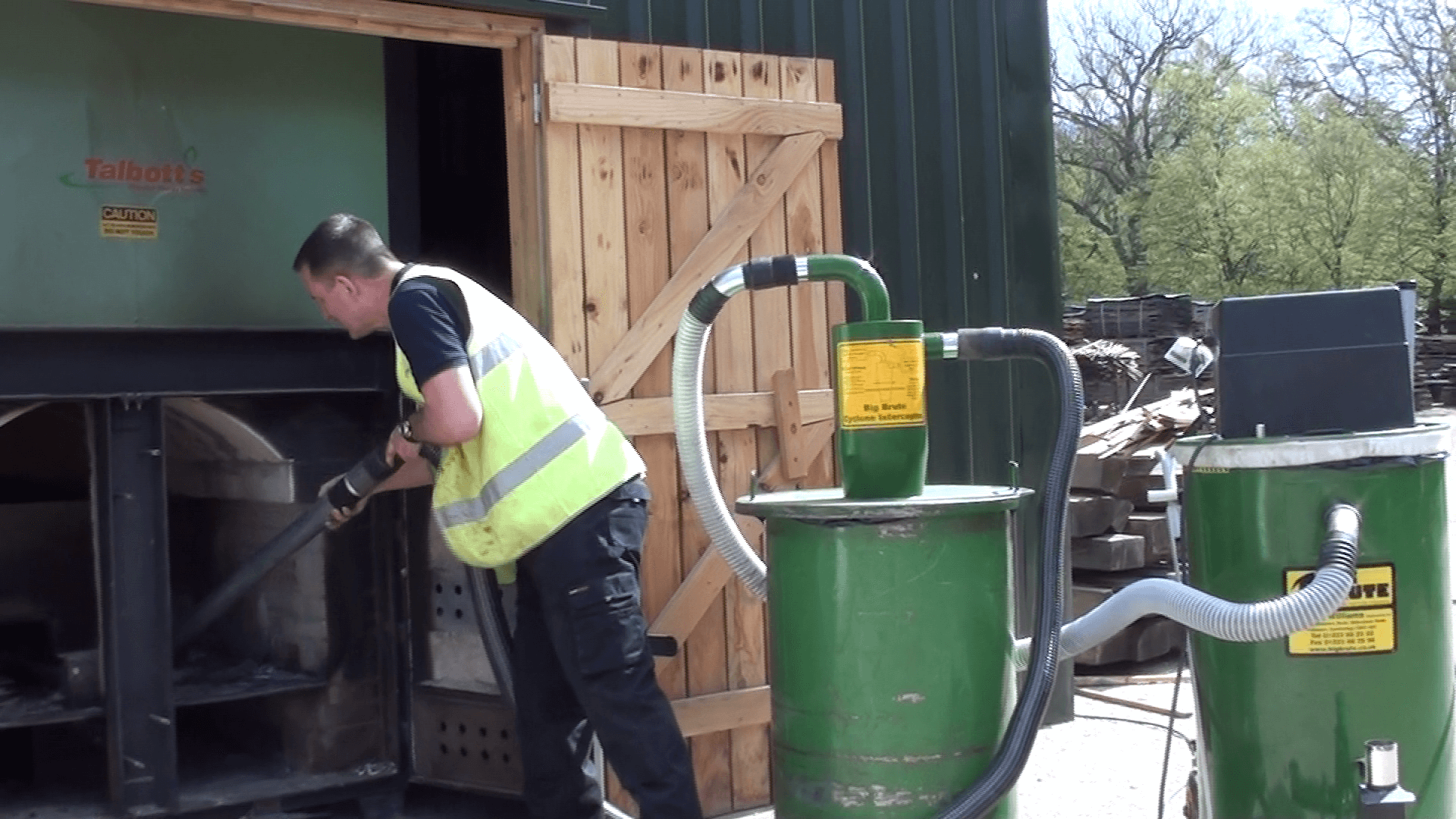 Big Brute Popular And Interceptor Cleaning Out A Biomass Boiler