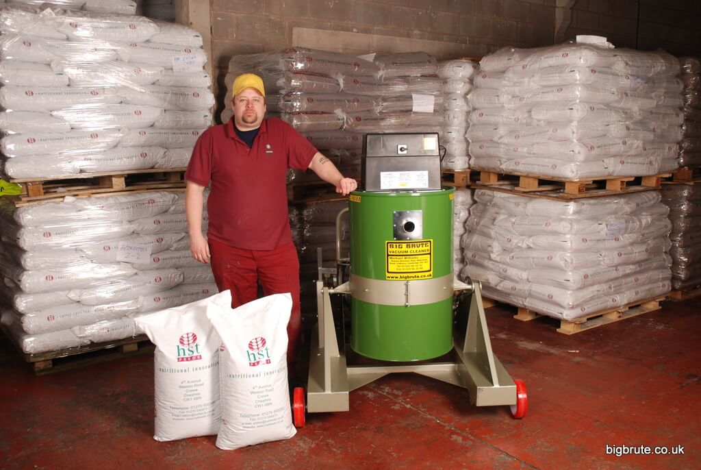 Craig Rogers Operations Manager Of HST Feeds Ltd Crewe With One Of His New Big Brute Skip Tip Industrial Vacuum Cleaners