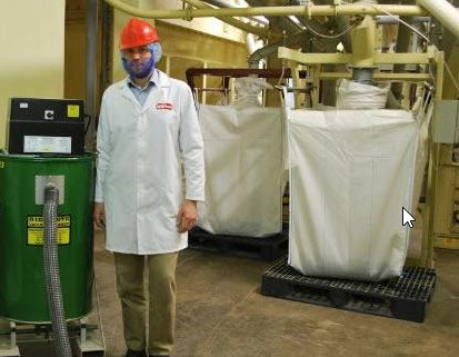 James Mathers Operations Manager at Whites Oats With Their Big Brute Industrial Vacuum Cleaner