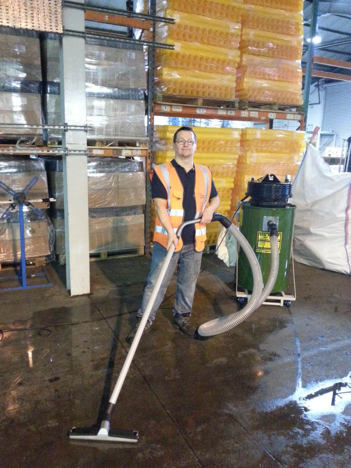 Naylor Specialist Plastics Cleaning Up With A Big Brute Wet & Dry Industrial Vacuum Cleaner