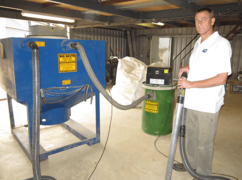 Robert Lacey With This Big Brute Bulkmaster 1000 and Big Brute Popular Farm Vacuum Cleaner