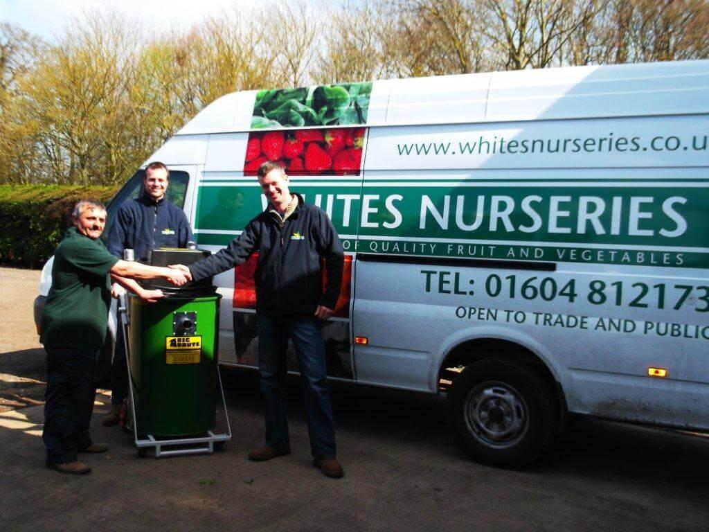 Whites Nurseries Receiving Their Prize of a Big Brute Popular Industrial Vacuum Cleaner
