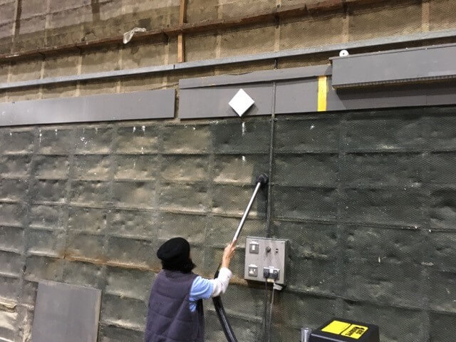 Ealing Studios Workshop Cleaning Walls On A Sound Stage With Their Big Brute Industrial Vacuum Cleaner