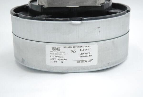 110V DAF Big Brute Motor Product Label